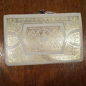 VINTAGE Italian Walborg white envelope clutch